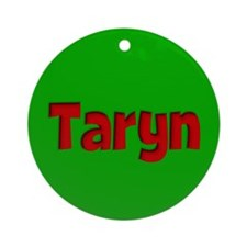 Taryn Green and Red Ornament (Round)
