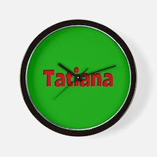 Tatiana Green and Red Wall Clock