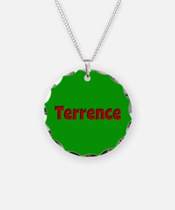 Terrence Green and Red Necklace Circle Charm