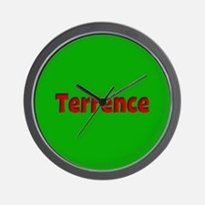Terrence Green and Red Wall Clock