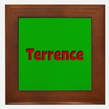 Terrence Green and Red Framed Tile