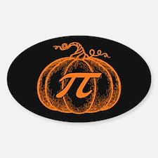 Pumpkin Pi Sticker (Oval)
