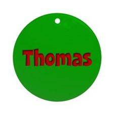 Thomas Green and Red Ornament (Round)