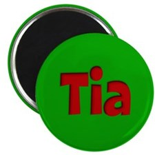 """Tia Green and Red 2.25"""" Magnet (10 pack)"""