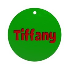 Tiffany Green and Red Ornament (Round)