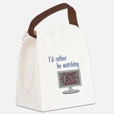 Rather Be Watching Castle Canvas Lunch Bag