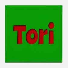 Tori Green and Red Tile Coaster