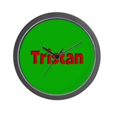 Tristan Green and Red Wall Clock