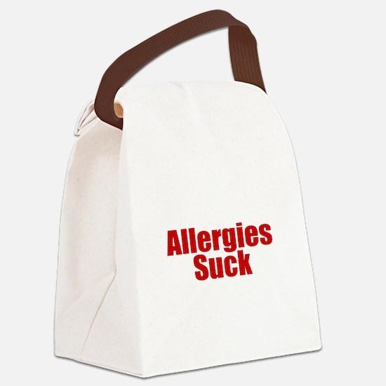 Allergies Suck Canvas Lunch Bag