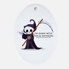 Hanging with Grim Ornament (Oval)