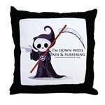 Hanging with Grim Throw Pillow