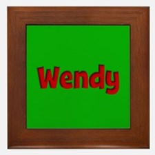 Wendy Green and Red Framed Tile