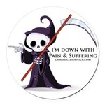 Hanging with Grim Round Car Magnet