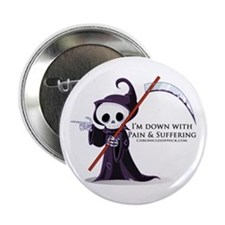 """Hanging with Grim 2.25"""" Button"""
