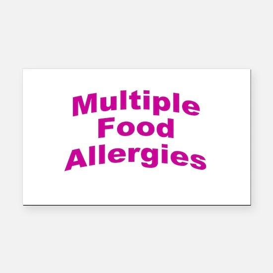 Multiple Food Allergies Rectangle Car Magnet