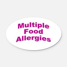 Multiple Food Allergies Oval Car Magnet