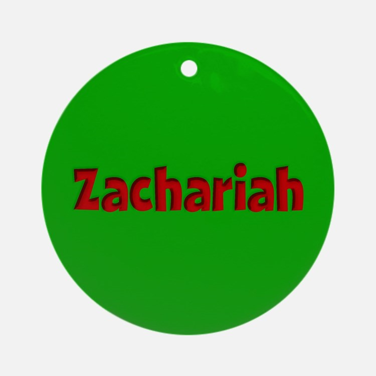 Zachariah Green and Red Ornament (Round)