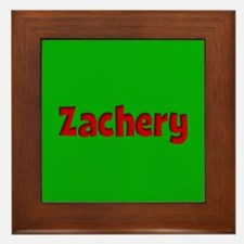 Zachery Green and Red Framed Tile