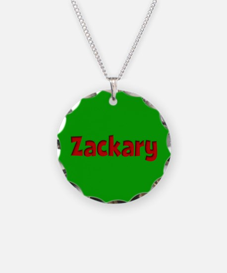 Zackary Green and Red Necklace