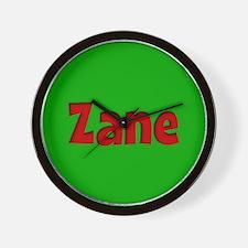 Zane Green and Red Wall Clock