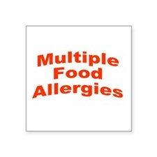 """Multiple Food Allergies Square Sticker 3"""" x 3"""""""