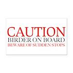 Caution birder on board bumper Rectangle Car Magne