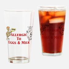Allergic To Eggs Milk Drinking Glass
