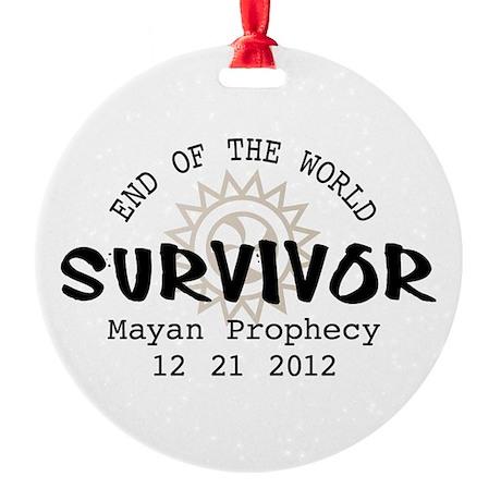 End of the World Survivor 2012 Round Ornament