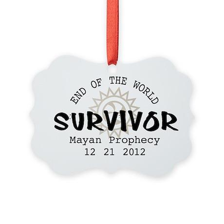 End of the World Survivor 2012 Picture Ornament