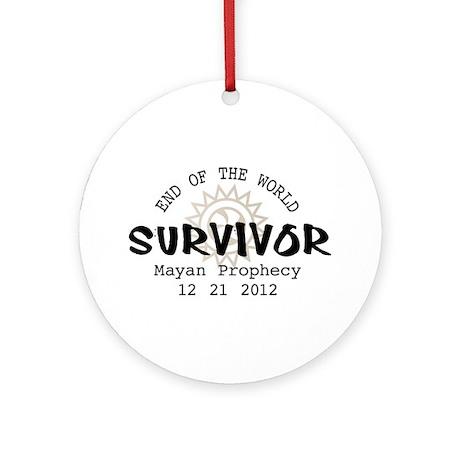 End of the World Survivor 2012 Ornament (Round)