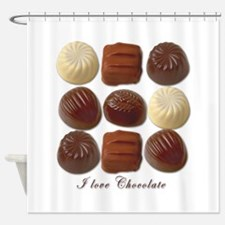 I Love Chocolate Shower Curtain