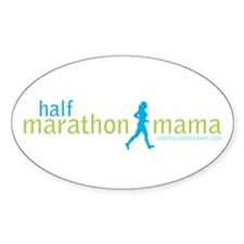 Half Marathon Mama Oval Decal
