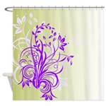 Floral Art Design Shower Curtain