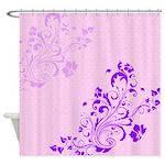 Pretty Flower Design Shower Curtain