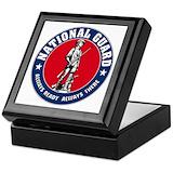 National guard Square Keepsake Boxes