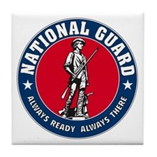 National Guard Logo Tile Coaster
