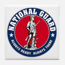 National Guard Logo Tile Coaster