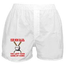 Funny Baseball Saying Boxer Shorts