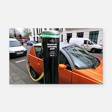 Recharging an electric car - Car Magnet