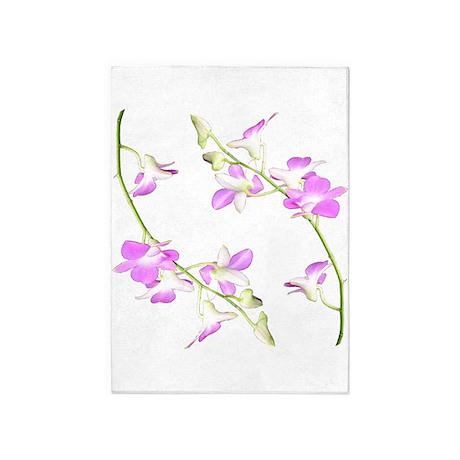 Dendrobium Beauty 5'x7'Area Rug