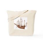 red brown sepia Santa Maria Boat Tote Bag