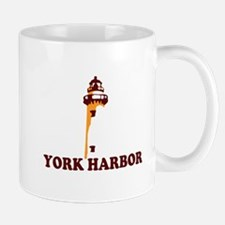 York Harbor ME - Lighthouse Design. Mug