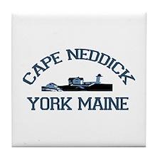 Cape Neddick ME. Tile Coaster