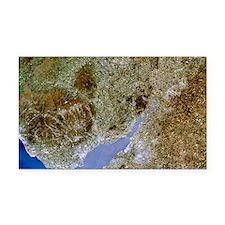True-colour satellite image of Severn estuary, UK