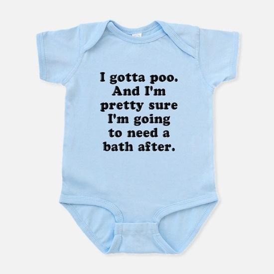 Poo Bath Infant Bodysuit