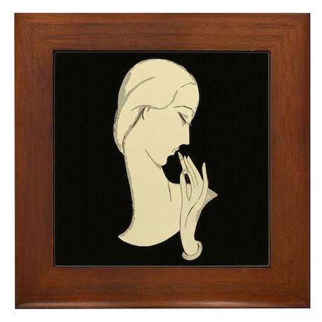 Art Deco Silhouette Framed Tile