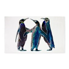 Neon Penguins 3'x5' Area Rug
