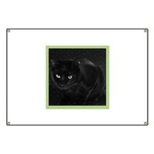 Mystical Black Cat Banner