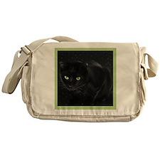 Mystical Black Cat Messenger Bag