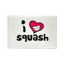 I Love squash Rectangle Magnet